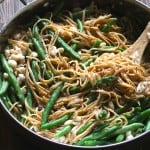 Lemon Garlic Linguine with Green Beans