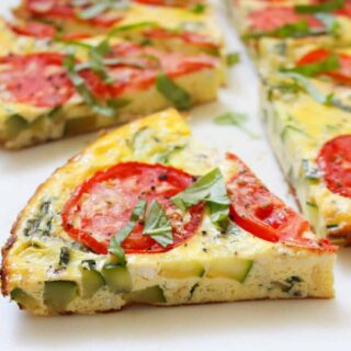 Simple Breakfast Summer Frittata | Frugal Nutrition