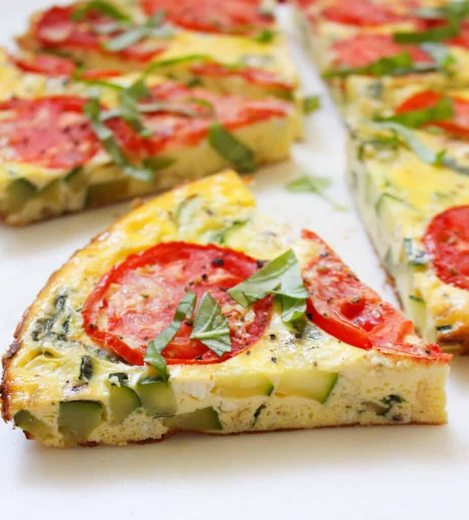Zucchini & Tomato Summer Frittata | Frugal Nutrition