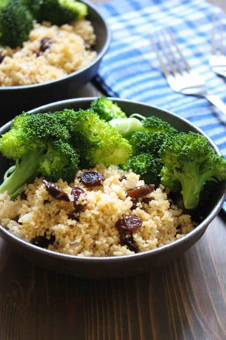 Spiced Couscous & Raisins | Frugal Nutrition #easydinner