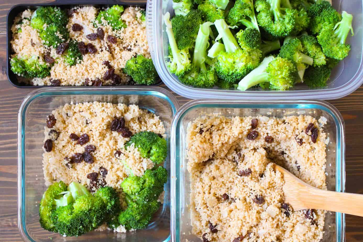 Spiced Couscous & Raisins Meal Prep | Frugal Nutrition #mealprep