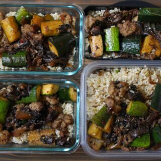 Vegan Portobello & Zucchini Stir Fry - Meal Prep   Frugal Nutrition