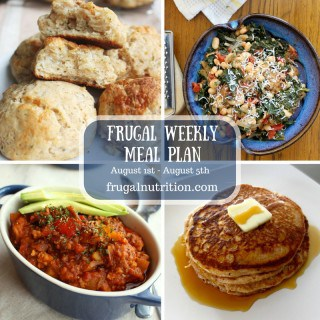 August 1st - August 5th Weekly Meal Plan