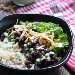 Quinoa & Black Bean Salad with Cilantro Jalapeño Dressing