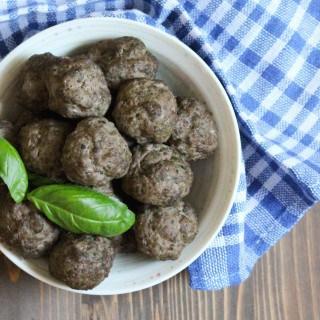 Baked Basil Garlic Meatballs   Frugal Nutrition