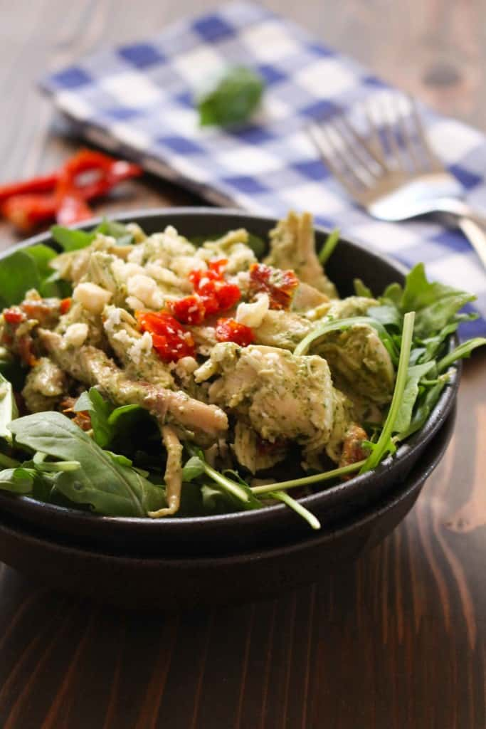 Chicken Salad with Creamy Basil-Feta Dressing | Frugal Nutrition