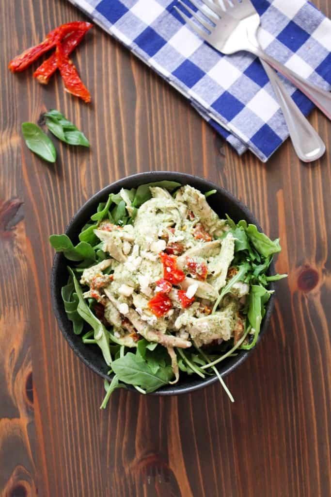 Chicken Salad with Sun Dried Tomatoes, Basil, Yogurt, Feta | Frugal Nutrition