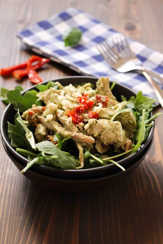 Creamy Basil Chicken Salad | Frugal Nutrition