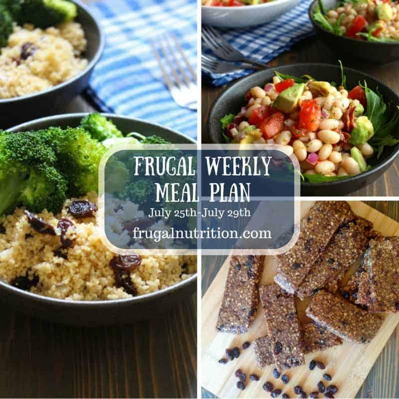 Frugal Meal Plan July 25