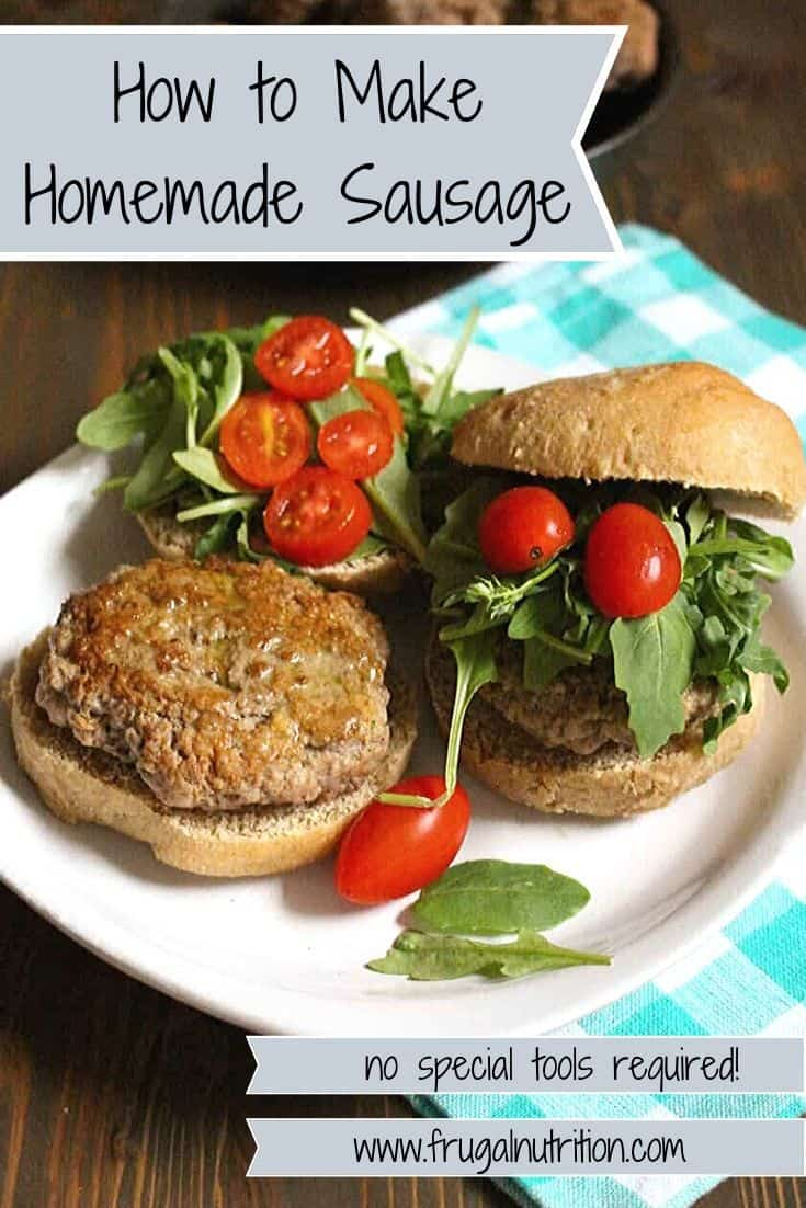 How to Make Homemade Sausage Patties by www.frugalnutrition.com
