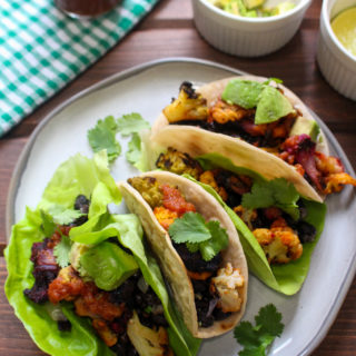 Roasted Cauliflower and Black Bean Tacos | Frugal Nutrition