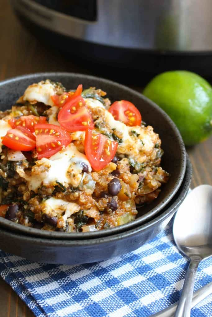 Simple Slow Cooker Quinoa Enchilada Casserole | Frugal Nutrition