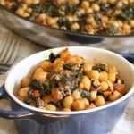 4-Ingredient Coconut Chickpeas with Tomatoes and Kale