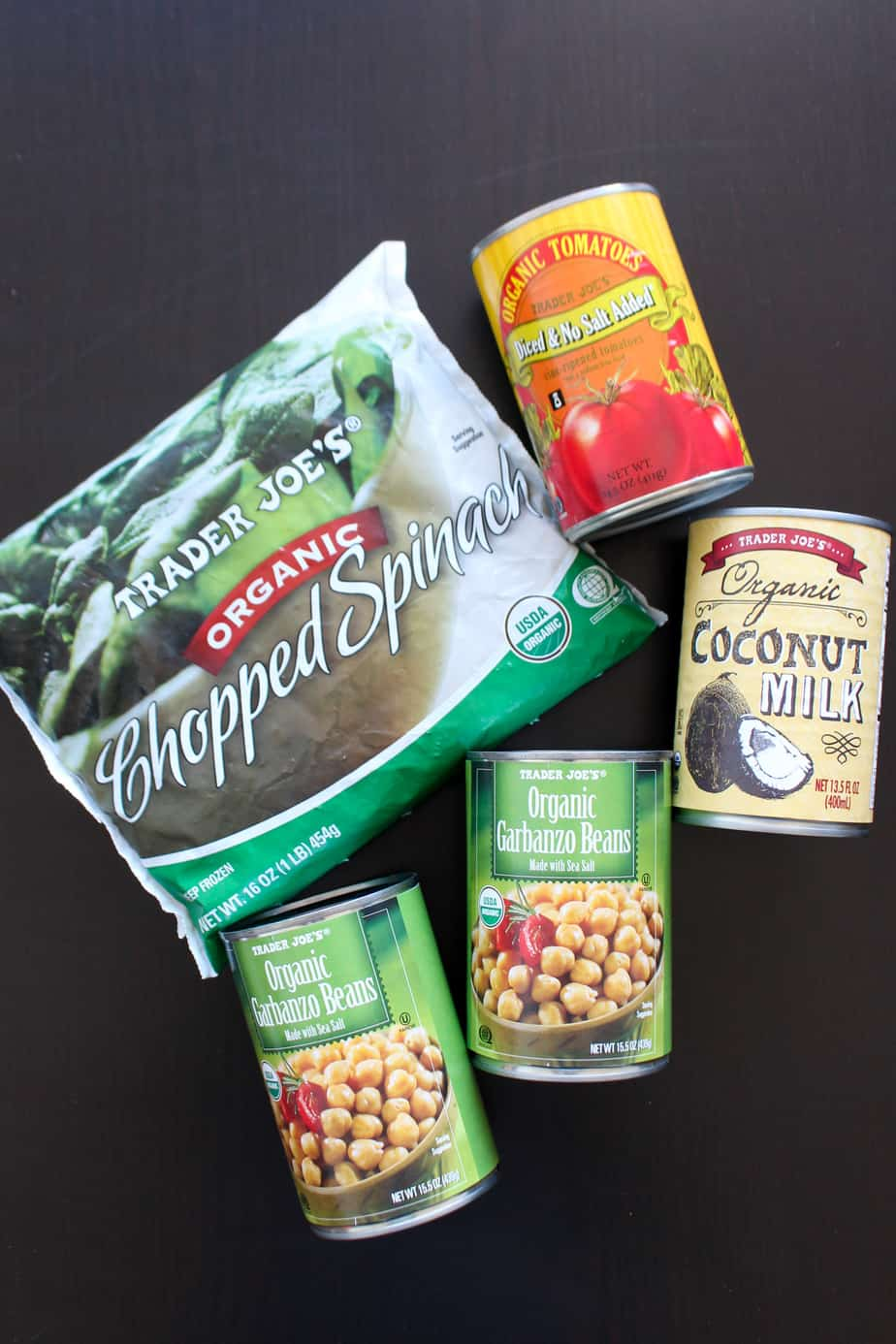 Pantry Ingredients for Coconut Tomato Chickpeas and Kale | Frugal Nutrition