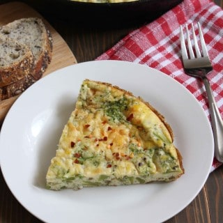 Broccoli White Cheddar Frittata | Frugal Nutrition