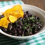 Cuban Black Beans (with Kale)
