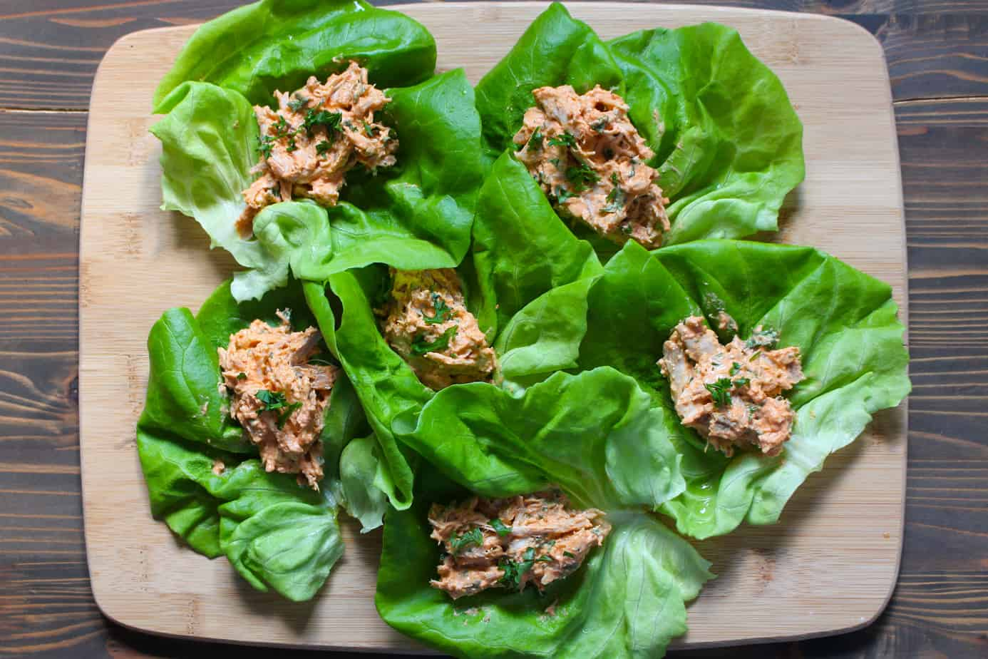 Easy Thai Red Curry Chicken Lettuce Wraps with Greek Yogurt | Frugal Nutrition