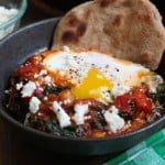 Tomato Shakshuka with Chickpeas and Kale