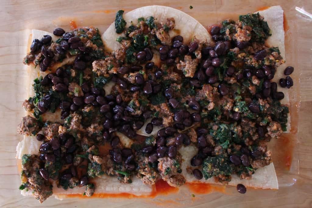 Taco Casserole Meat Beans Spinach Layer   Frugal Nutrition