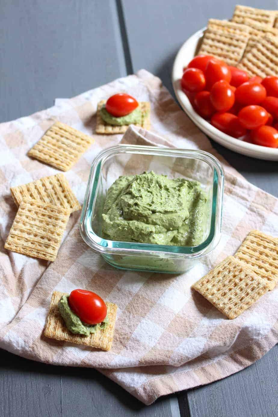 Easy 3-Ingredient Basil Cream Cheese Dip | Frugal Nutrition