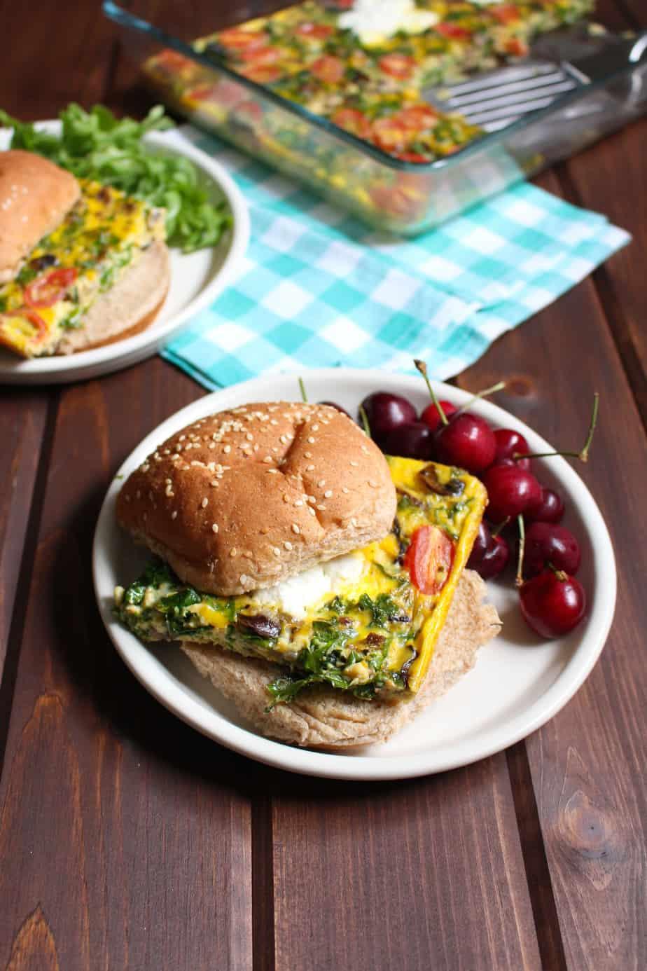 Frittata Breakfast Sandwiches | Frugal Nutrition