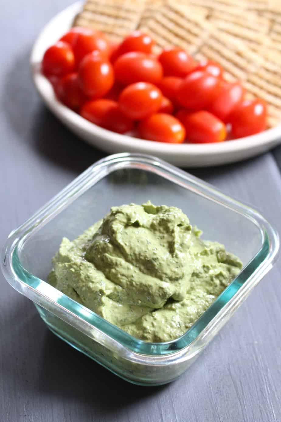 Simple 3-Ingredient Basil Cream Cheese Dip | Frugal Nutrition