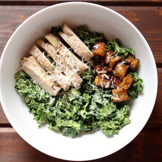 Chicken Avocado Kale Caesar Salad | Frugal Nutrition