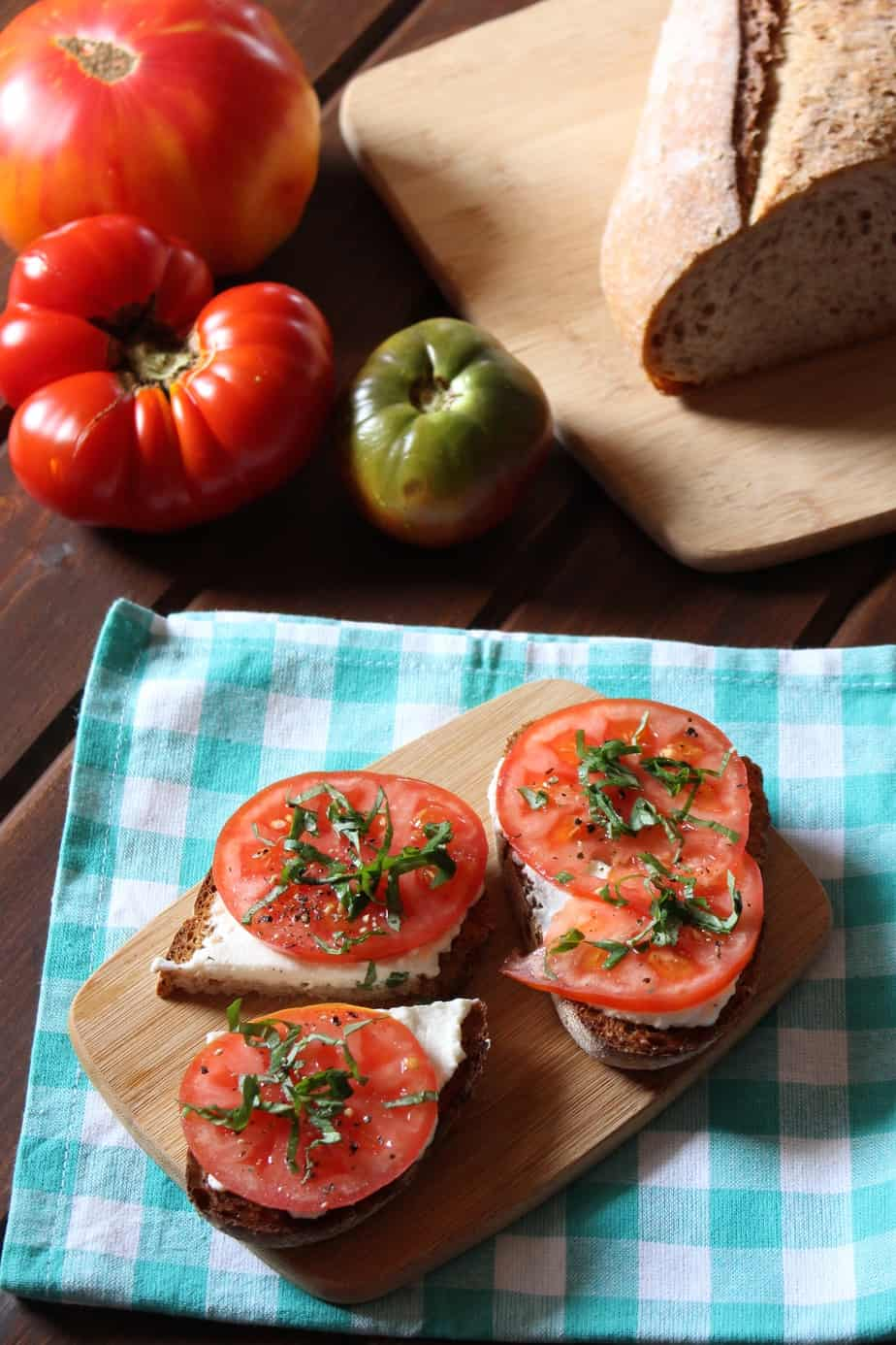 Easy Garlic Ricotta Toast | Frugal Nutrition