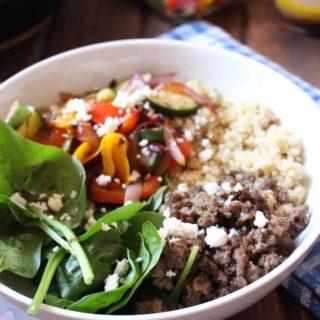 Mediterranean Quinoa Bowl | Frugal Nutrition