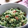 Cilantro Lime Quinoa and Chickpea Salad | Frugal Nutrition #vegan #salad