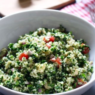Cilantro Lime Quinoa and Chickpea Salad | Frugal Nutrition #vegan #salad
