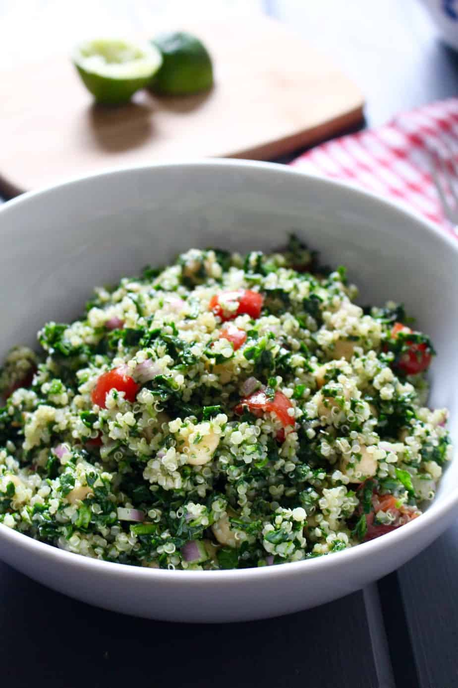 Cilantro Lime Quinoa and Chickpea Salad   Frugal Nutrition #vegan #salad