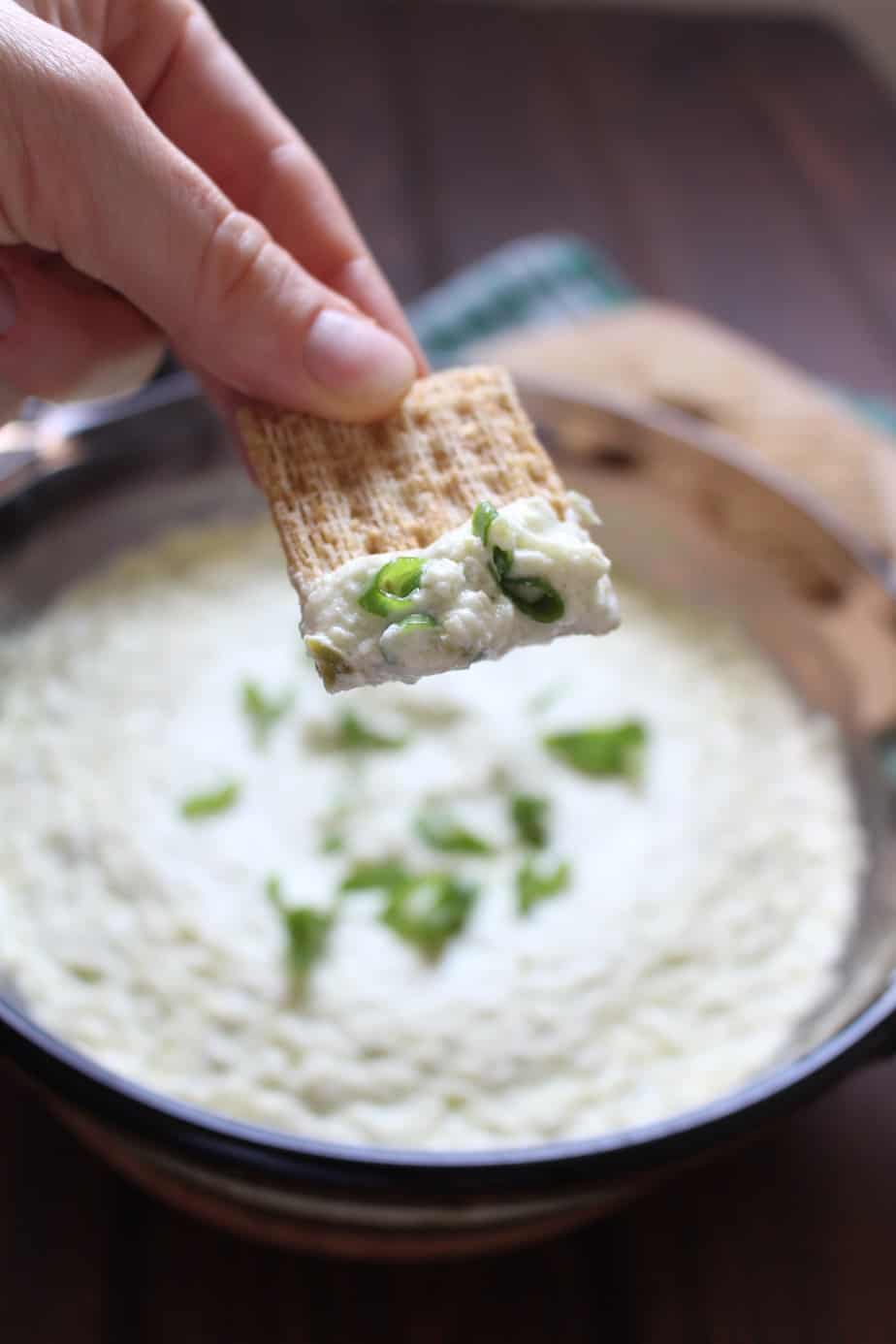 Easy Baked Jalapeño Cream Cheese Dip | Frugal Nutrition