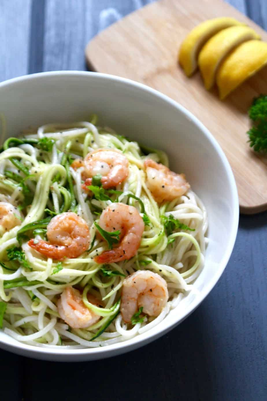Coconut Garlic Shrimp with Zoodles | Frugal Nutrition