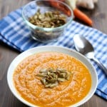 Easy Creamy Vegan Carrot Ginger Soup with Turmeric | Frugal Nutrition