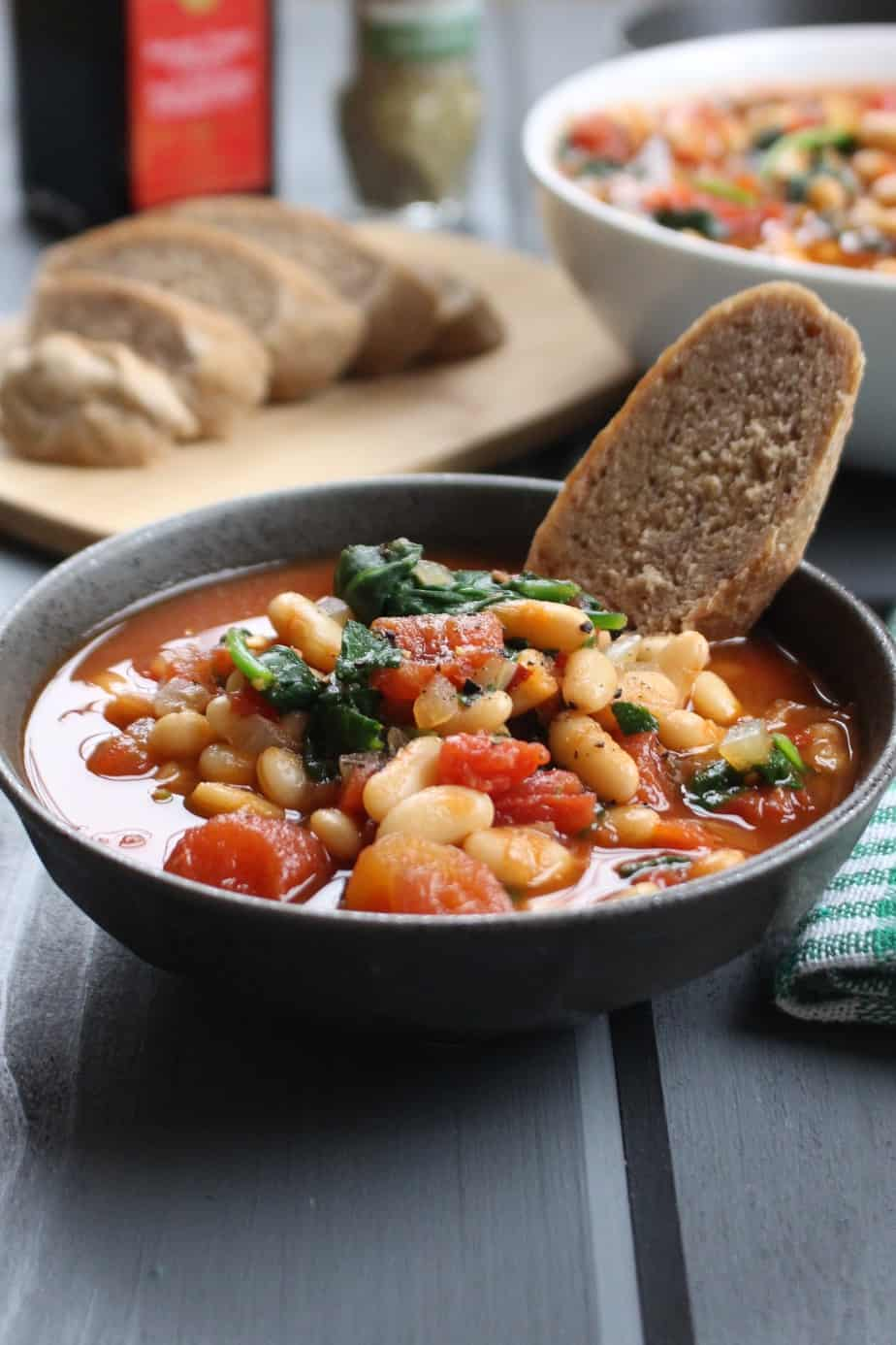 Easy Garlic White Bean and Balsamic Soup | Frugal Nutrition