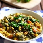 Lemony Lentil Stew With Kale (Vegan)