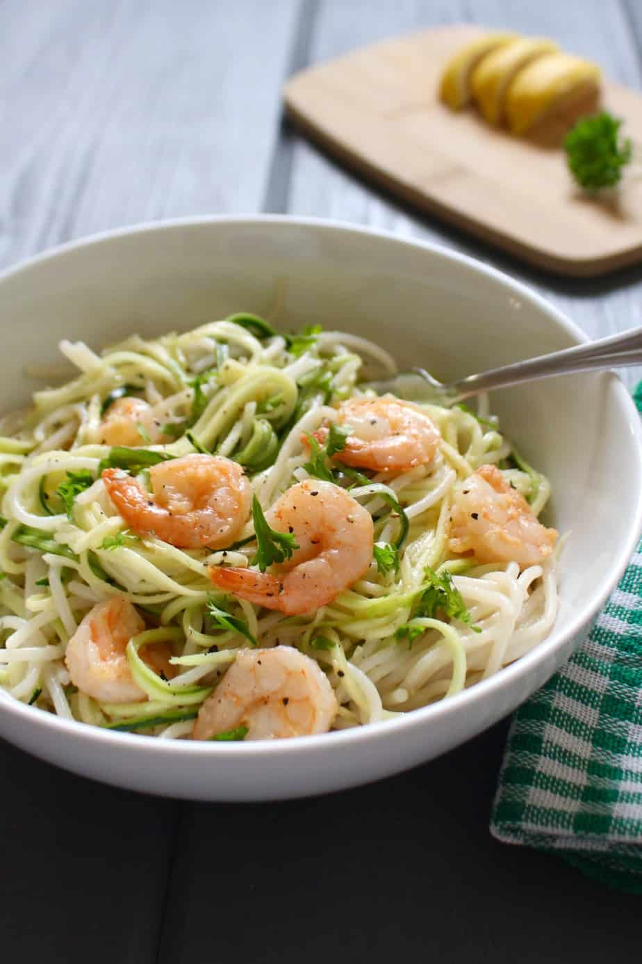 Spicy Shrimp with Coconut Milk and Zucchini Noodles | Frugal Nutrition
