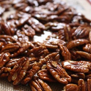 Spicy Maple Candied Pecans | Frugal Nutrition