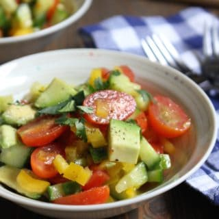 Tomatoes, Cucumbers, Avocados, Bell Pepper Salad | Frugal Nutrition #whole30