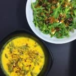 Golden Soup and Arugula Salad Whole30