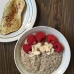Hemp Porridge with Berries and Sweet Potato Toast