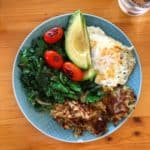 Whole30 Breakfast Eggs Hash Greens
