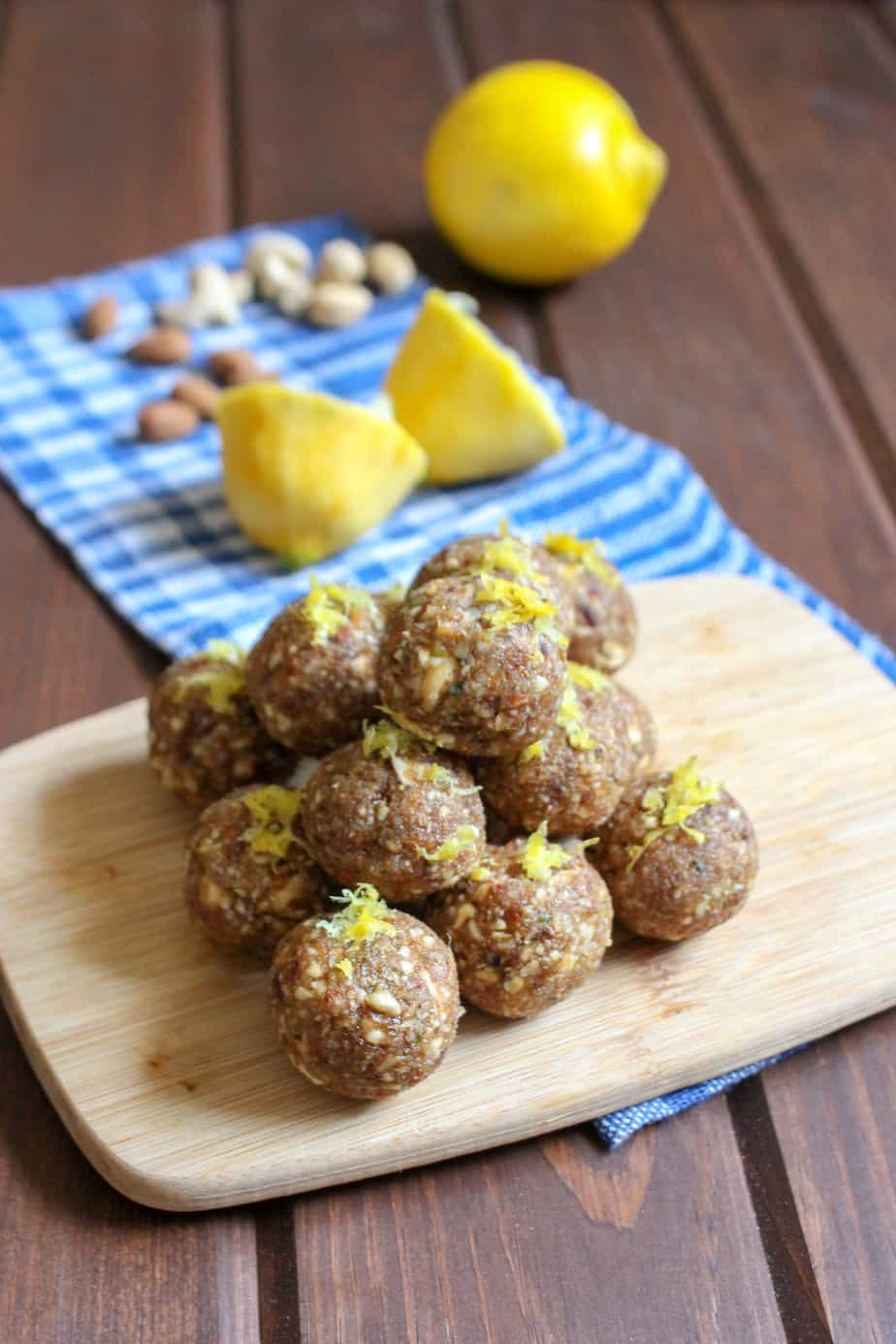 Homemade Lemon Larabar Bites - made with less sugar! | www.frugalnutrition.com