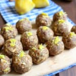 Lemon Larabar Bites are the perfect treat for lunchboxes! Made with half the sugar! | www.frugalnutrition.com