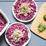 Purple Cabbage Slaw with Tuna (Fast Whole30)