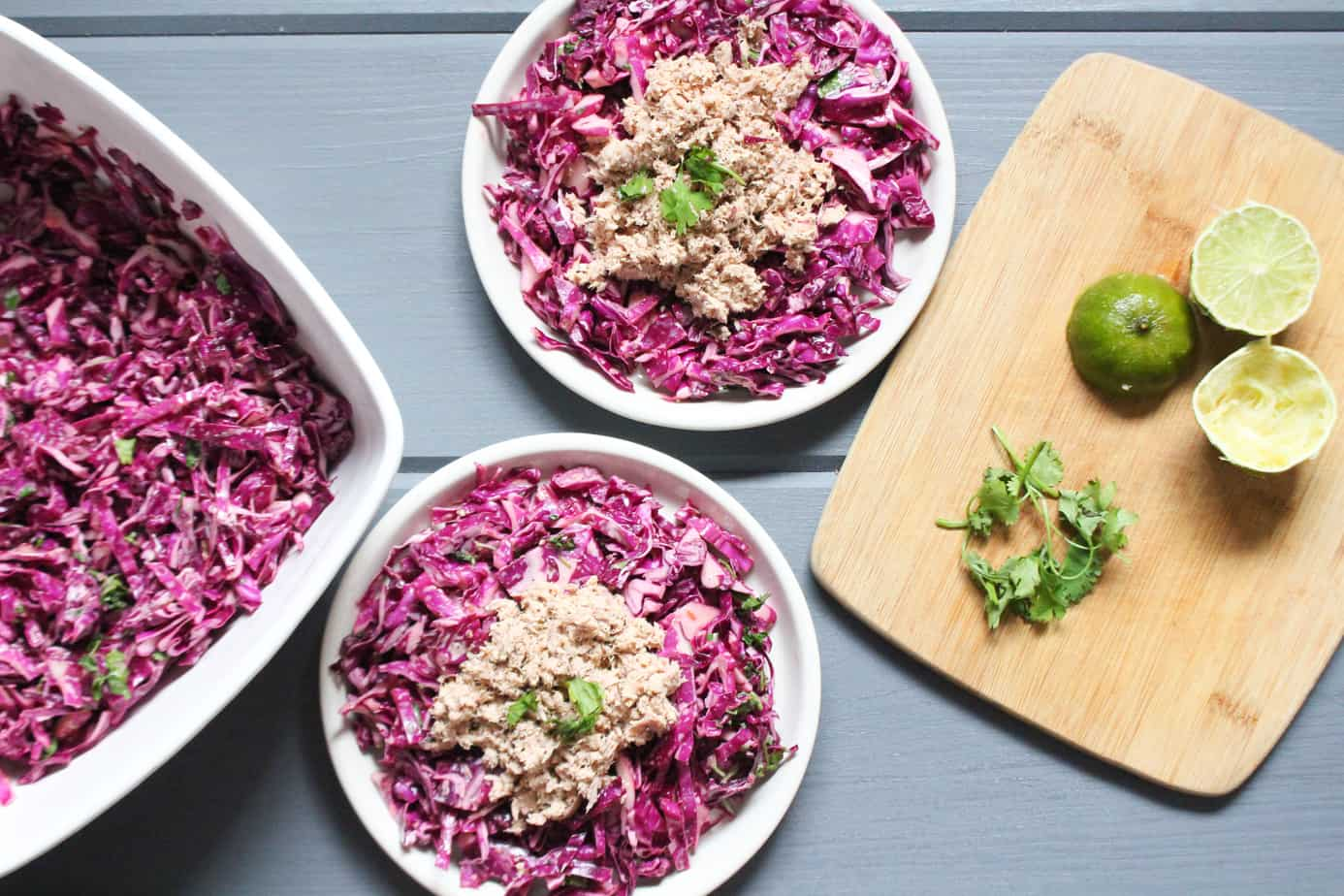 Easy Whole30 Meal Tuna and Cabbage Slaw | Frugal Nutrition