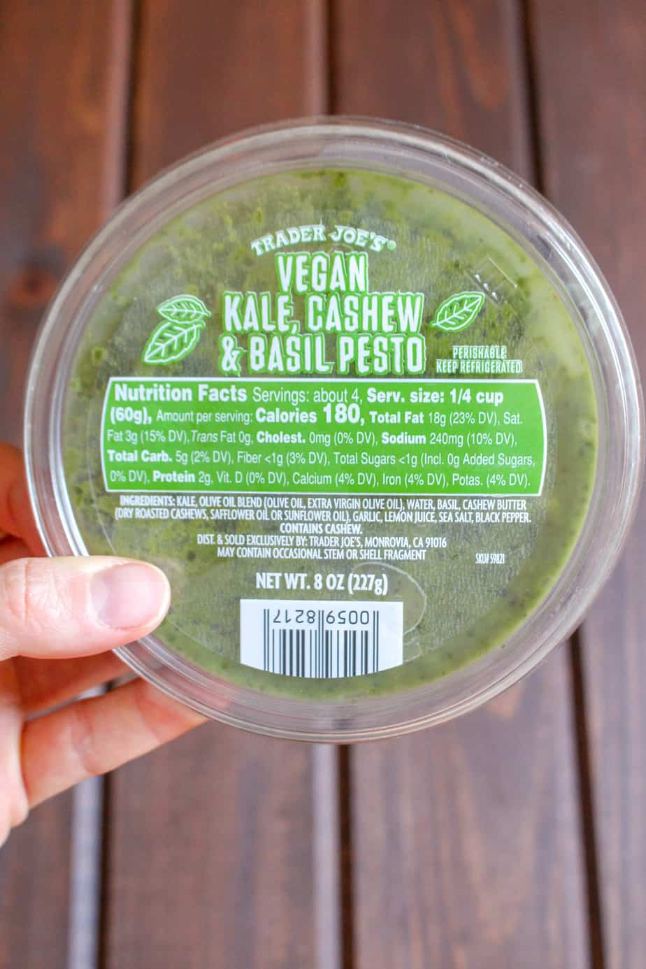 Trader Joe's Vegan Kale Pesto | Frugal Nutrition