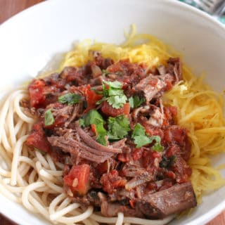 Beef Ragu with Spaghetti Squash | Frugal Nutrition