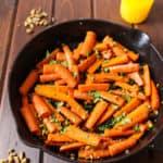 Stovetop Pistachio Carrots in Ghee